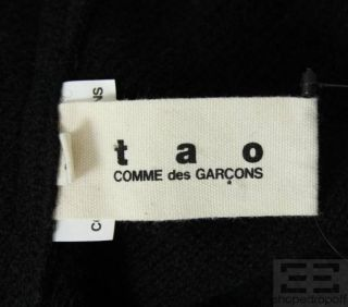 Tao Comme des Garcons Black Wool Ruffle Sweater Top Size Medium