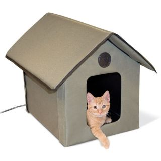OUTDOOR HEATED KITTY HOUSE KH 3993 OUTDOOR HEATED CAT HOUSE CAT BED