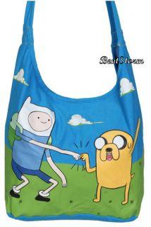 NWT Adventure Time Finn And Jake Fist Bump Hobo Tote Bag Characters