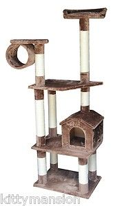 Baltimore Cat Tree Furniture Condo Scratching Post in Mocha by Kitty