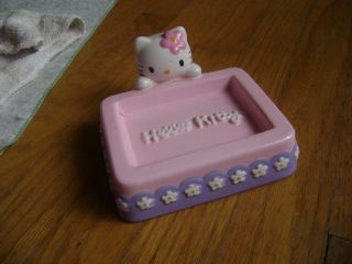 Sanrio Hello Kitty Kid Child Bathroom Ceramic Soap Holder Dish