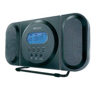 Memorex MC7104 Blk Loft CD Clock Radio Midnight Black