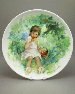 Paul Durand Children Collection Limoges Porcelain Collector Plates