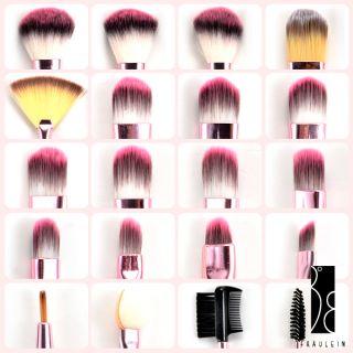 FRÄULEIN3°8 20x Brochas Pinceles Profesional Para Maquillaje Con