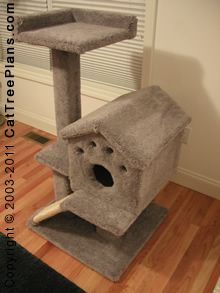 Cat tree plans make 6 furniture condo plan instruction for Do it yourself cat condo
