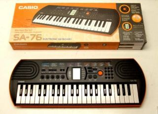 Casio SA 76 44 Key Mini Electronic Keyboard w Tempo Control Orange