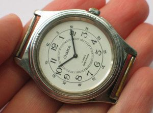 Modern Russian Chaika Watch 17 JWLS Classic White Dial