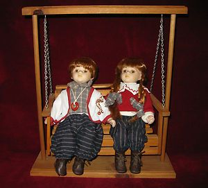 CATHAY COLLECTION 1 5000 MATCHING BOY GIRL SOLID WOOD SWING PORCELAIN