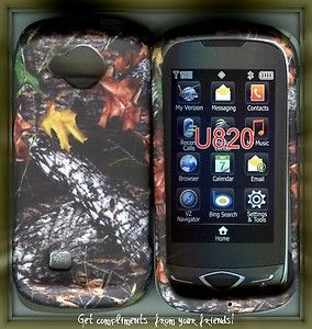 Reality U820 Verizon Cell Phone Hard Cover Case Camo Stem