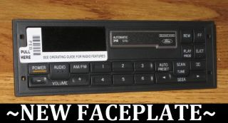 88 1999 Ford Mustang F150 Tape Cassette Radio Faceplate