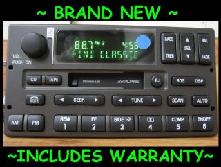 2001 2002 Lincoln Town Car Cassette Tape Radio Alpine Also Fits Limo