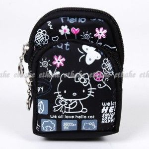 Hello Kitty Cell Phone Pouch Case Mini Bag Coin Purse