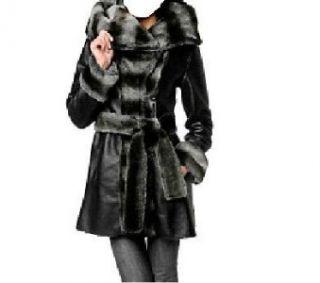 Womens Illusion Reversible Faux Fur Coat Plus 1x $429
