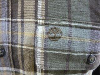 timberland green plaid chamois button shirt size 3xl