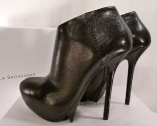 CAMILLA SKOVGAARD SAW HEEL SHOE BOOTS~ BLACK NAPPA LEATHER ~ BNIB ~ 38