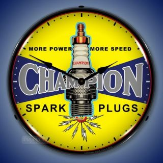 Nostalgic Vintage Style Champion Spark Plugs Backlit Lighted Wall
