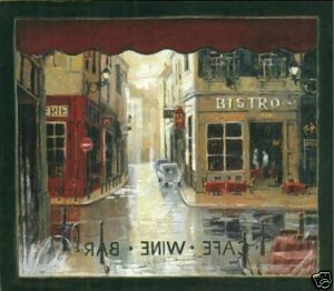 French Bistro Cafe Window Wallpaper Wall Decor Mural