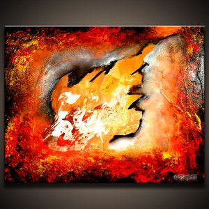 Message from My Heart Original Abstract Contemporary Painting by