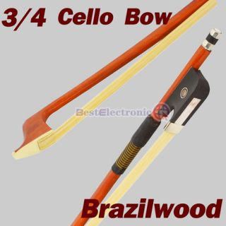 New 3/4 Brazilwood Cello Bow Mongolia horse hair High Quality