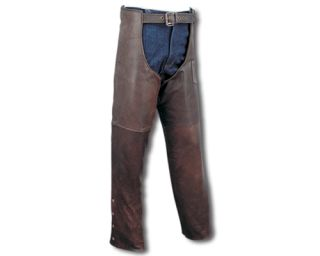 Retro Brown Premium Leather Motorcycle Chaps Pants LC15