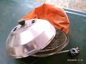 Marine BBQ, Fishing Barbeque, Clamp on Stainless Steel Charcoal Grill