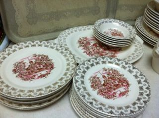 LOT 36 PCS TRIUMPH Made in U.S.A. LIMOGES Warranted 22K Gold China