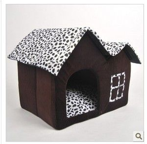 Pet Kennel Cat House Pet Supplies Super Lovely Dog House Chocolate