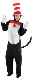 Dr Seuss Cat in The Hat Deluxe Adult Costume Animal Movie Theme Party