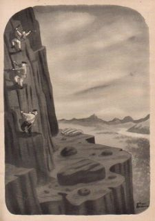 1954 Charles Addams Mountain Climbers Giant Vintage 50s The New Yorker
