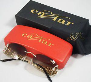 NEW Caviar 6834 Col. 21 Sunglasses eyeglasses Champagne Series glasses