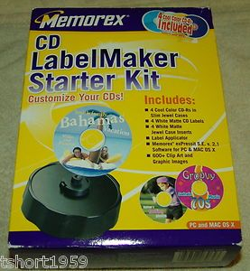 CD DVD Label Maker Kit New in Box Memrorex Brand Complete