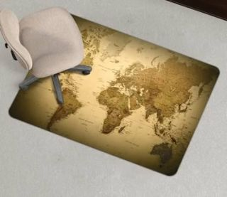 46x60 E s Robbins World Map Design Chair Mat Chairmats