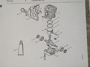 Stihl Chainsaw Parts Manuals 020AV 020T 020 029 039 030 031 MS 290 MS