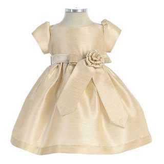 Sweet Kids Little Girls Size 6 Champagne Aurora Sash Christmas Dress