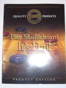 Champion Shuffleboard Product Catalog 2008 Tables