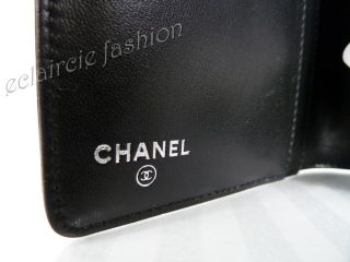 Chanel Symbol Lucky Charms Black Patent Credit Card Organizer Clutch