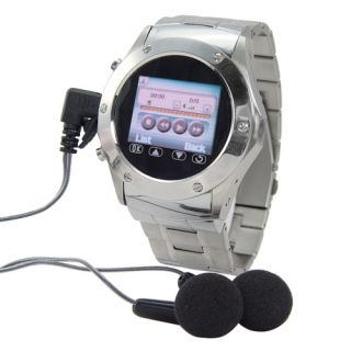 Watch Cell Phone Mobile Stainless FM Camera  4 W968