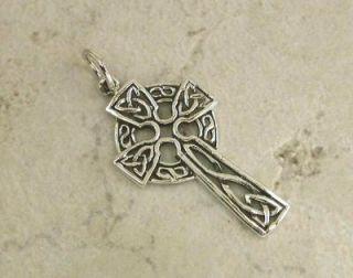 Stunning Sterling Silver Open Knot Celtic Cross Pendant