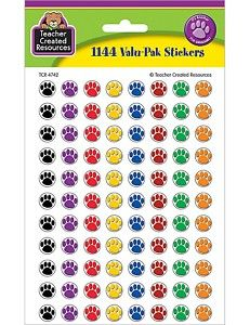 1144 Paw Prints Mini Stickers Cats Dogs Teacher New
