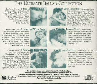 Ultimate Ballad Collection Readers Digest UK Pop Songs