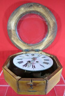 Antique A La Gerbe Dor A Chapus French Depot Station Wall Clock for