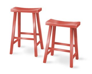 Eco Friendly South Beach Saddle Seat Counter Stool Wood