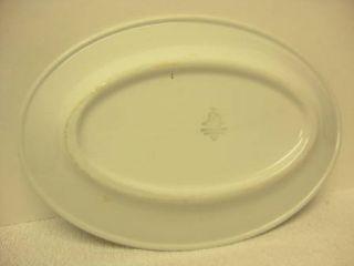 Ware Shenango China Chardon Rose Oval Serving Platter Plate