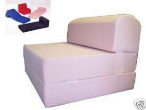 Red Twin Size Sleeper Chair Folding Foam Bed Studio Bed