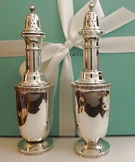 Pre Civil War 1853 Tiffany Co Sterling Silver Shakers by Renown Artist