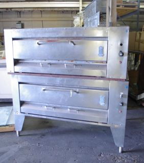 Montagues Hearthbake Gas Double Deck Pizza Ovens