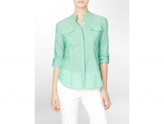 Calvin Klein Chambray Roll Up Shirt Womens