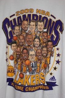 Los Angeles Lakers NBA Finals World Champions T Shirt Kobe Bryant XL