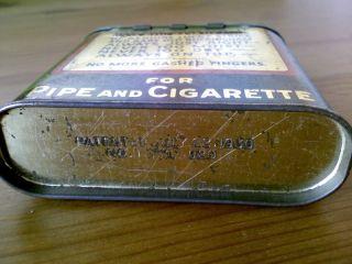 old buckingham half half pocket tobacco tin