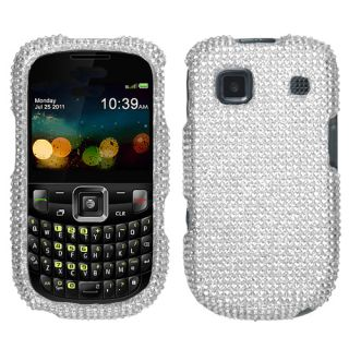 For ZTE Z431 Cell Phone Case Cover Bling Rhinestones Silver Diamond